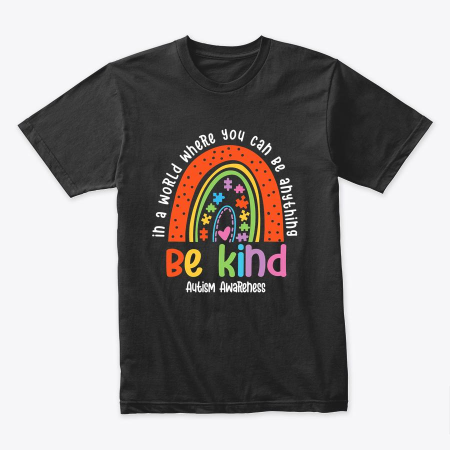 Autism Son Child Daughter Mom Be Kind Rainbow T Shirt