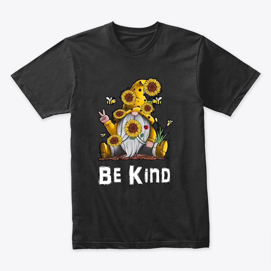 Be Kind Sunflower Inspirational Cute Gnome Blessed Love T Shirt