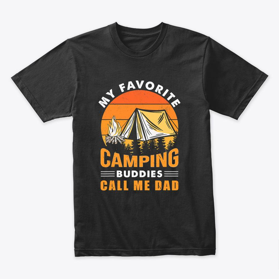 My Favorite Camping Buddies Call Me Dad Vintage Father's Day T-Shirt