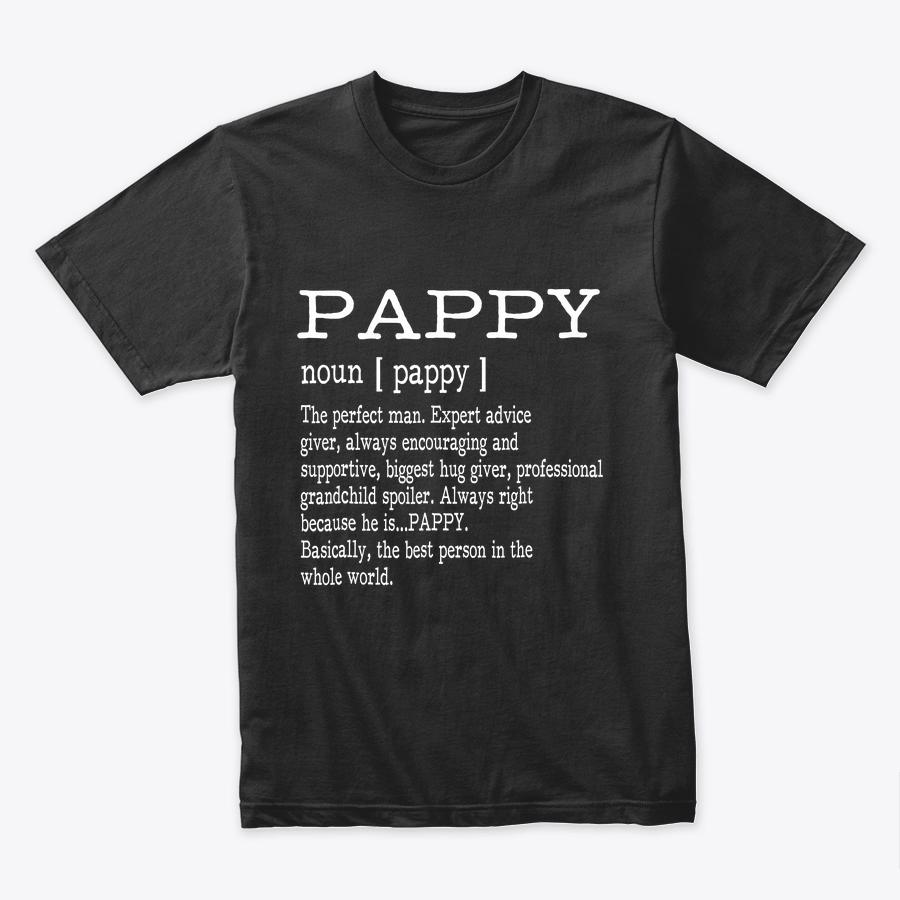 Pappy Definition Grandpa Father's Day Gifts - Men T-Shirt