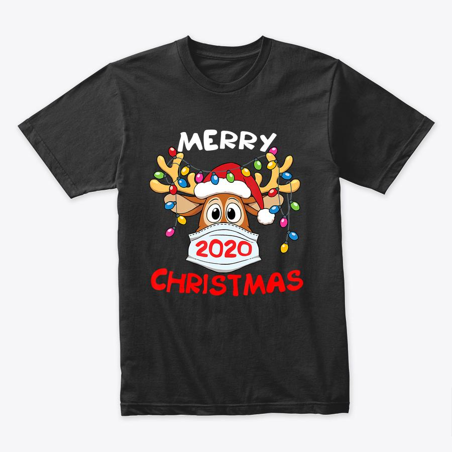 Reindeer In Mask Shirt Funny Merry Christmas 2020 T-Shirt